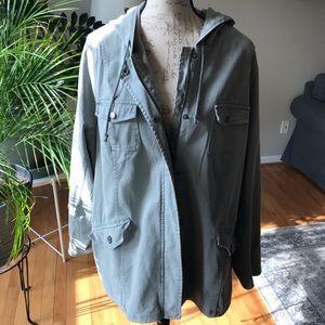Torrid Sage Green Anorak Jacket, Size 3